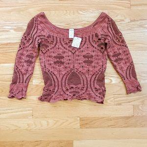 Free People 🆕 Seamless Crochet Crop Top